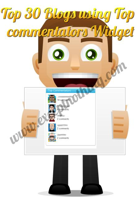 Top 30 Blogs using Top Commentators Widget
