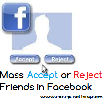 accept or reject friend requests in bulk