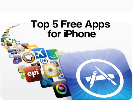 top 5 free apps for iPhone