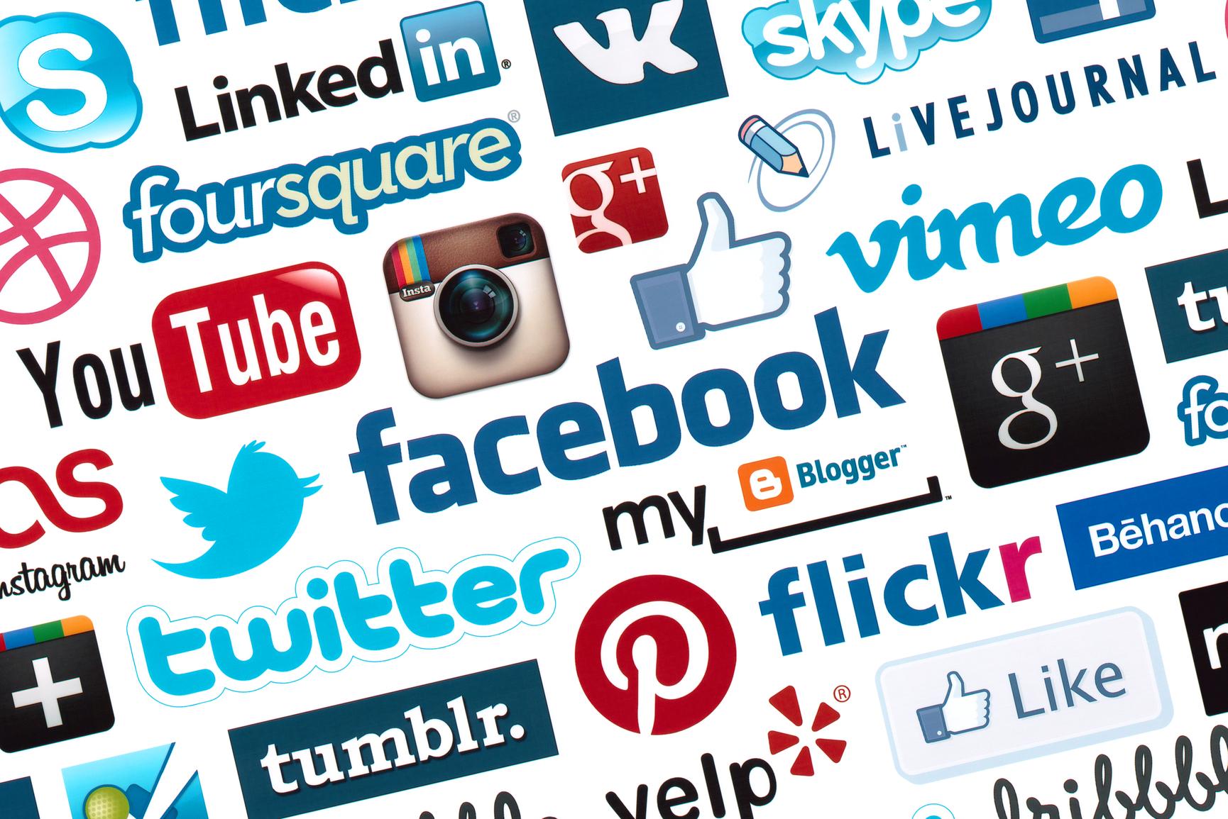 Social media sites logo