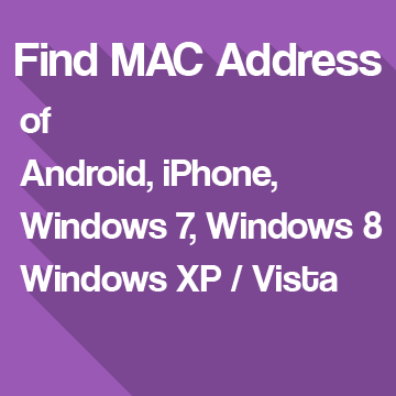 Finding MAC Address