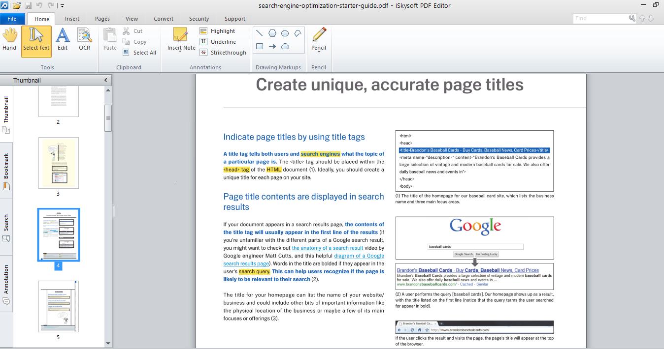 Editing PDF Files