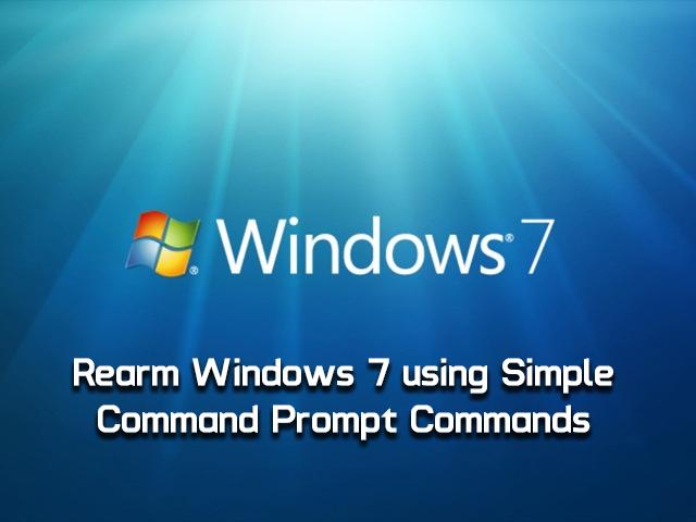 Windows 7 Rearm