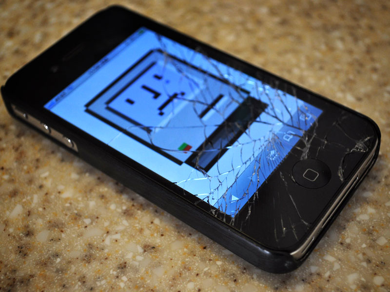 iPhone 4 Broken Screen