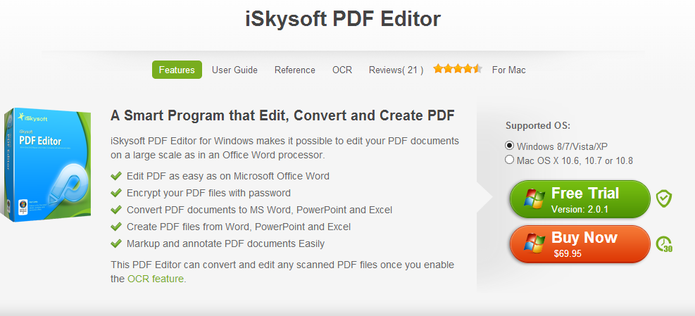 Review of iSkySoft PDF Editor Software