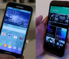 Samsung Galaxy S5 and HTC One M8