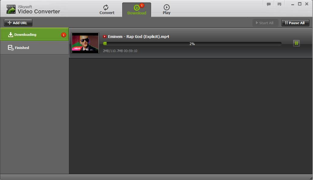 iSkysoft Video Converter conversion