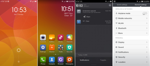 MIUI Homescreen