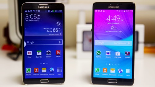 Note 3 vs Note 4