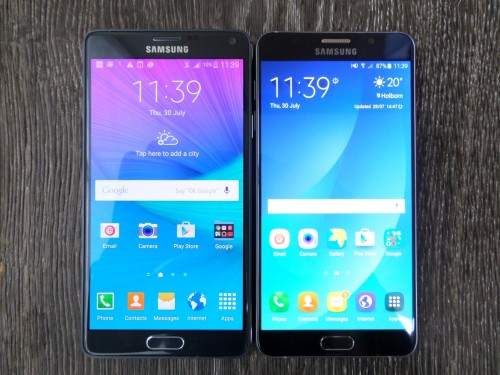 Note 5 vs Note 4